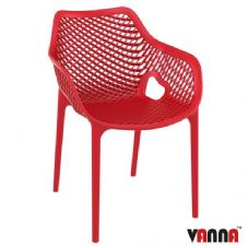 Vanna Spring Arm Chair - Red